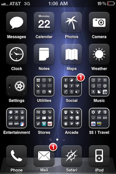 Winterboard Theme Glasklart