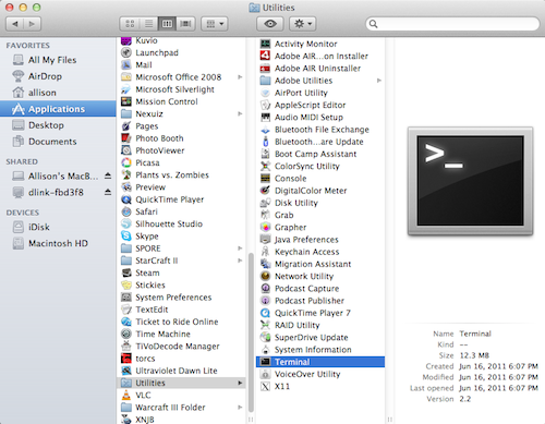 Viewing your Library folder in Mac OS X Lion via Finder | Ben Hepworth
